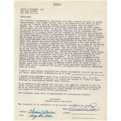Lucille Ball Signed Tintair Advertising Release Contract