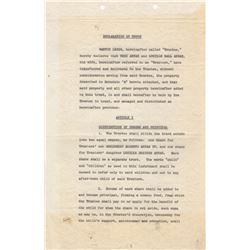 Lucille Ball & Desi Arnaz Trust Documents for Their Children Desi Arnaz Jr. & Lucie Arnaz
