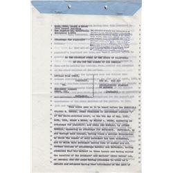 Lucille Ball & Desi Arnaz Official Divorce Documents