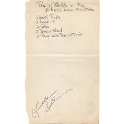 Inventory List of Lucille Ball & Desi Arnaz's Palm Spring, Beverly Hills & New York Home Assets