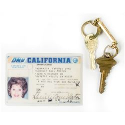 Lucille Ball's Driver's License & Personal Set of Keys