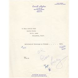 Collection of Lucille Ball and Desi Arnaz Receipts