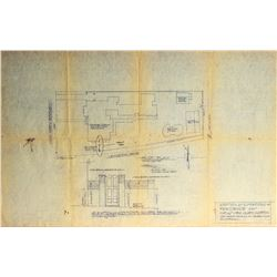 "Blueprints for ""Addition & Alterations"" to Residence of Mr. & Mrs. Gary Morton"