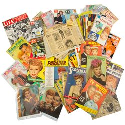 Large Archive of Lucille Ball Magazines, TV Guides, Comic Books & Newspaper Publications