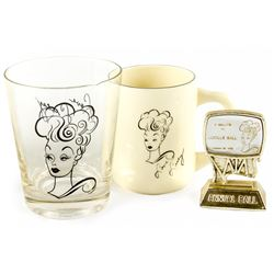 "Vintage Late 1960's/Early 1970's ""Love Lucy"" Mug & Glass Tumbler"