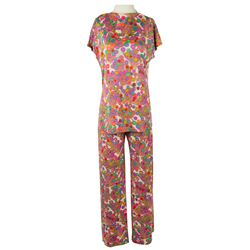 Lucille Ball Personal Custom Matching Colorful Print Blouse & Pants