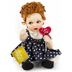 I Love Lucy Porcelain Baby Lucy Heirloom Doll from Franklin Mint