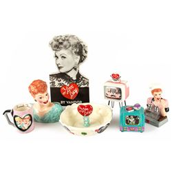 Collection of I Love Lucy Ceramic Houseware by Vandor