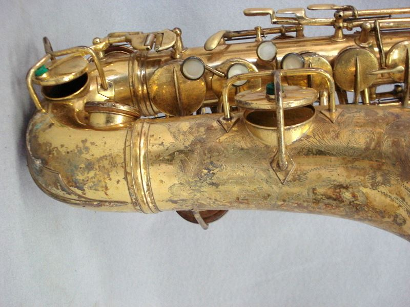CG Conn Saxophone serial number 128,732 1924-25, we believe this is a New  Wonder series I, engraved