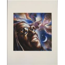 Chen Signed Print Clarence Clemons Bruce Springsteen