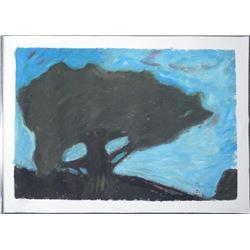 Maestro Tanjianji Original Painting on Canvas -Tree