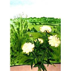 Jane Freilicher PEONIES Signed and Numbered Art Etching