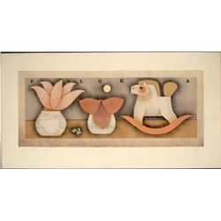 Flora Puzzle Carol Jablonsky Art Print Signed
