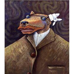 Markus Pierson 'COYOTE PORTRAIT OF VAN GOGH' Canvas