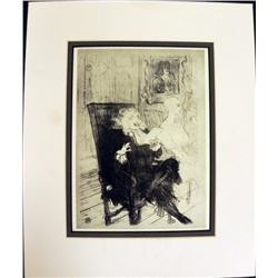 Engraving Henri De Toulouse Lautrec Brilliant Idea