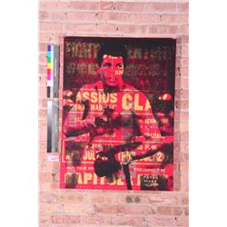 Peter Mars Orig Mixed Media Art Muhammad Ali Upper Cut