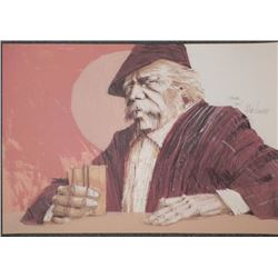 Aldo Longo Signed Artist Proof Print -Man at the Bar