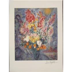 Marc Chagall : Bouquet Flowers Art Print