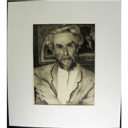 Renoir Engraving Portrait of Mr. Chioquet Print