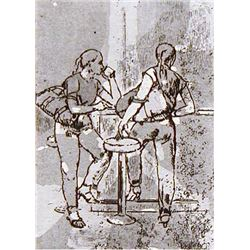 Isabel Bishop GIRLS AT COUNTER 1982 (II) Signed Etching