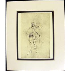 Two Face Engraving Print Henri de Toulouse Lautrec