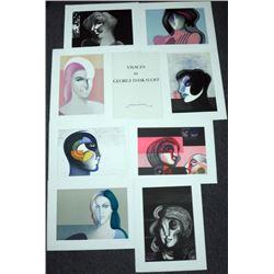 8) Lithographs S/N Georgi Daskaloff Visages Portfolio