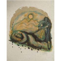 Reuven Rubin Signed Art Print Sampson & Delilah