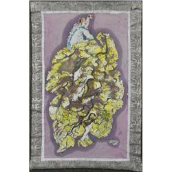 Betty Heredia Batik Fabric Painting Lady Dancer Dancing