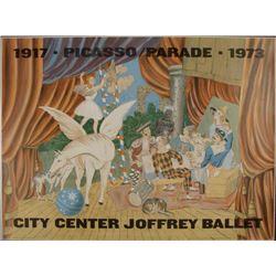 Pablo Picasso: Parade, City Center Joffrey Ballet Print