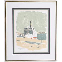Saltsjön Yacht Limited Edition Print by Gordon Macjie