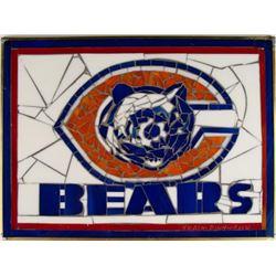 Chicago Bears Original Stained Glass Art by Pinkhasik