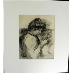 Femme Cousant Engraving Pierre-Auguste Renois Print