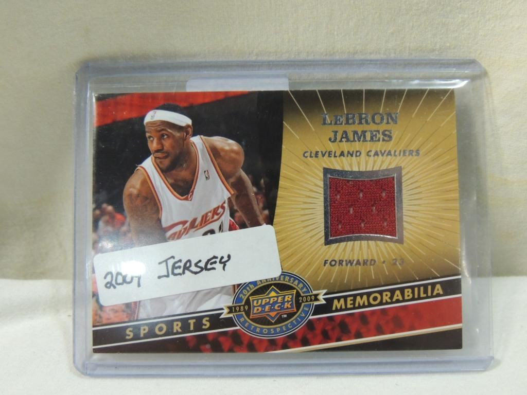size 40 b0275 3ebdc 2009 UPPER DECK LEBRON JAMES #NBA-LJ JERSEY CARD
