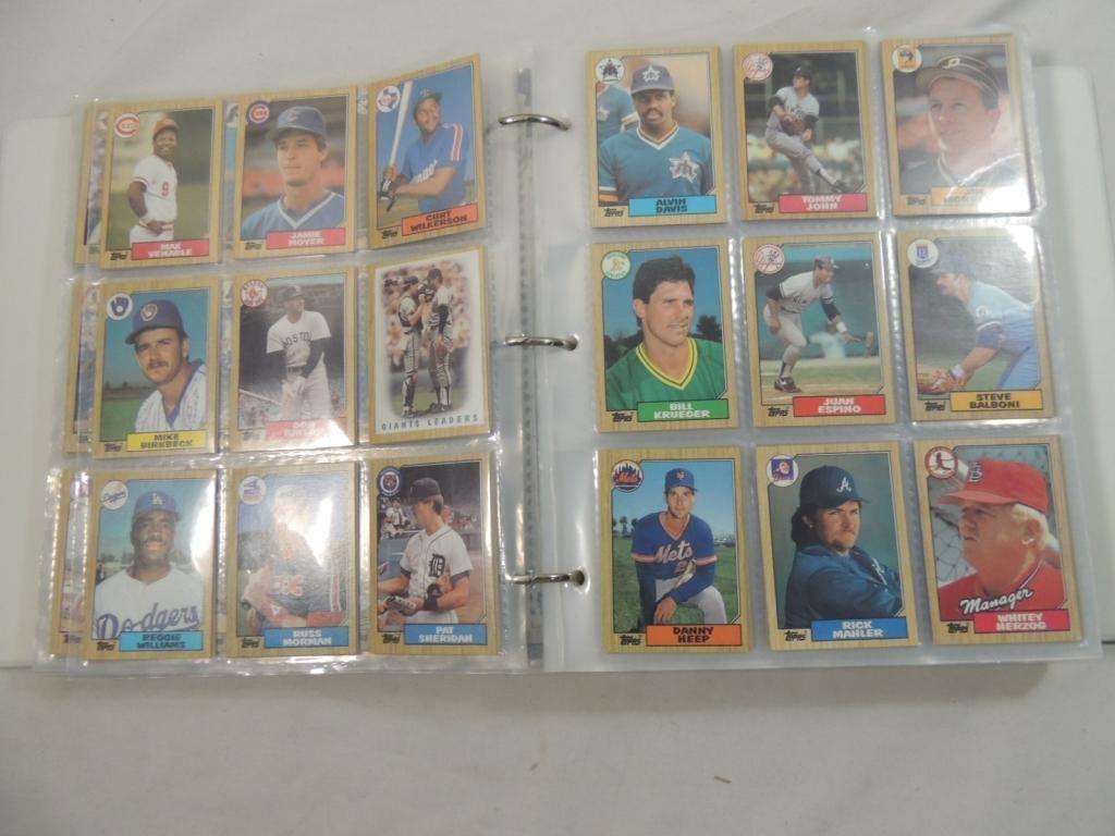 1987 Topps Baseball Card Set Binder