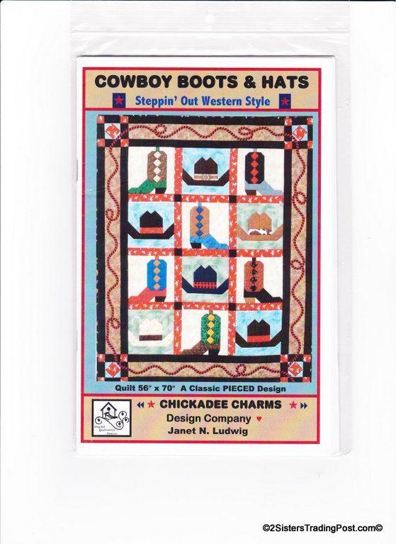 Cowboy Boots Hats Quilt Pattern 56 X 70