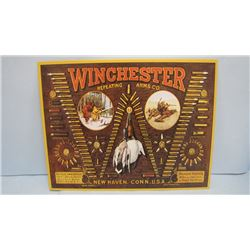 WINCHESTER REPEATING ARMS CO. TIN REPRODUCTION AMMO SIGN