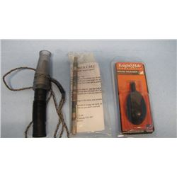 LOT W/ DUCK CALL, GOPHER CALL & MOUSE SQUEAKER