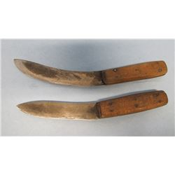 SET 2 HOME MADE SKINNING KNIVES