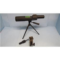 BUSHNELL BANNER 50mm ZOOM SPOTTING SCOPE w TABLE TOP TRIPOD & CAR WINDOW MOUNT