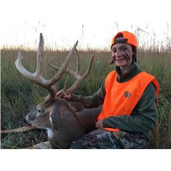 6-Day Whitetail Deer Hunt for Two Hunters in Kansas - Includes 2x Whitetail Trophies
