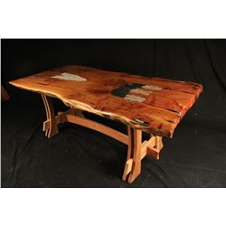 """Rain Cloud"" - Alligator Juniper Table by Andy Sanchez"