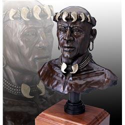 Mfalme Waki Afrika  - Bronze Sculpture by Raj S. Paul