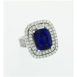 Gorgeous 8-Carat Tanzanite and Diamond Ring