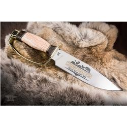 D-Guard Bowie Knife with DSC Logo and Custom Display Case