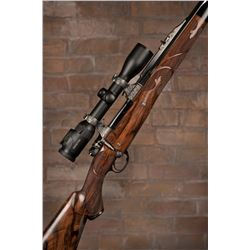 John Bolliger Hand-Engraved Exhibition Rifle with Swarovski Scope