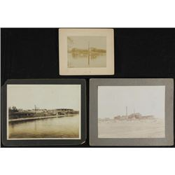 3 Antique Photographs Farm, Boating in Park