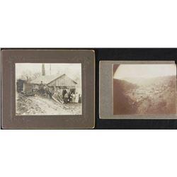 2 Antique Photographs Group Portrait American Rural