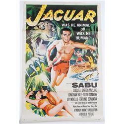 Jaguar 1955 Original Vintage Movie Poster Sabu