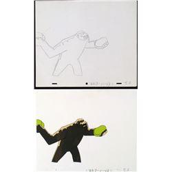 Cel Original Think Fast Production Drawing Herculoids