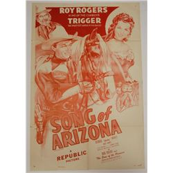 Song of Arizona Vintage Movie Poster Rogers Trigger